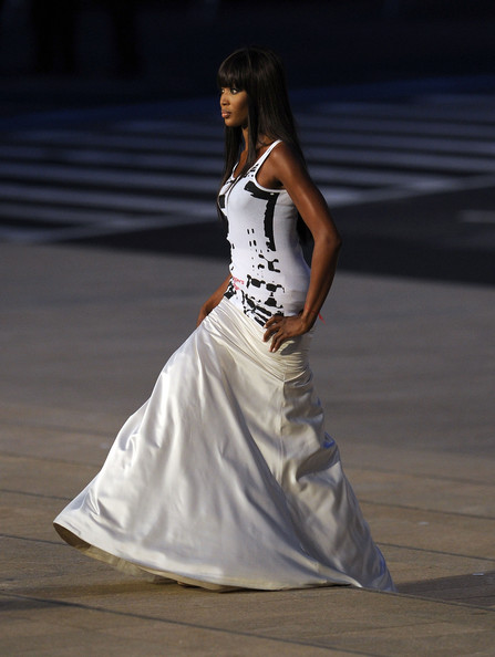 Model Naomi Campbell walks the runway during Fashions Night Out: The Show at Lincoln Center on September 7, 2010 in New York City. (September 6, 2010 - Photo by Bryan Bedder/Getty Images North America)