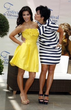 Kim Kardashian and Kris Jenner - Kim Kardashian Photocall At The 49th Monte Carlo TV Festival