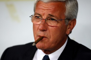 Italy manager Marcello Lippi looks on during the FIFA 2010 World Cup Qualifier between Italy and The Republic of Ireland in the Stadio San Nicola on April 1, 2009 in Bari, Italy.