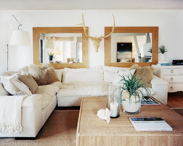 Bohemian Living Room Photos (191 of 230) - white sectional living room