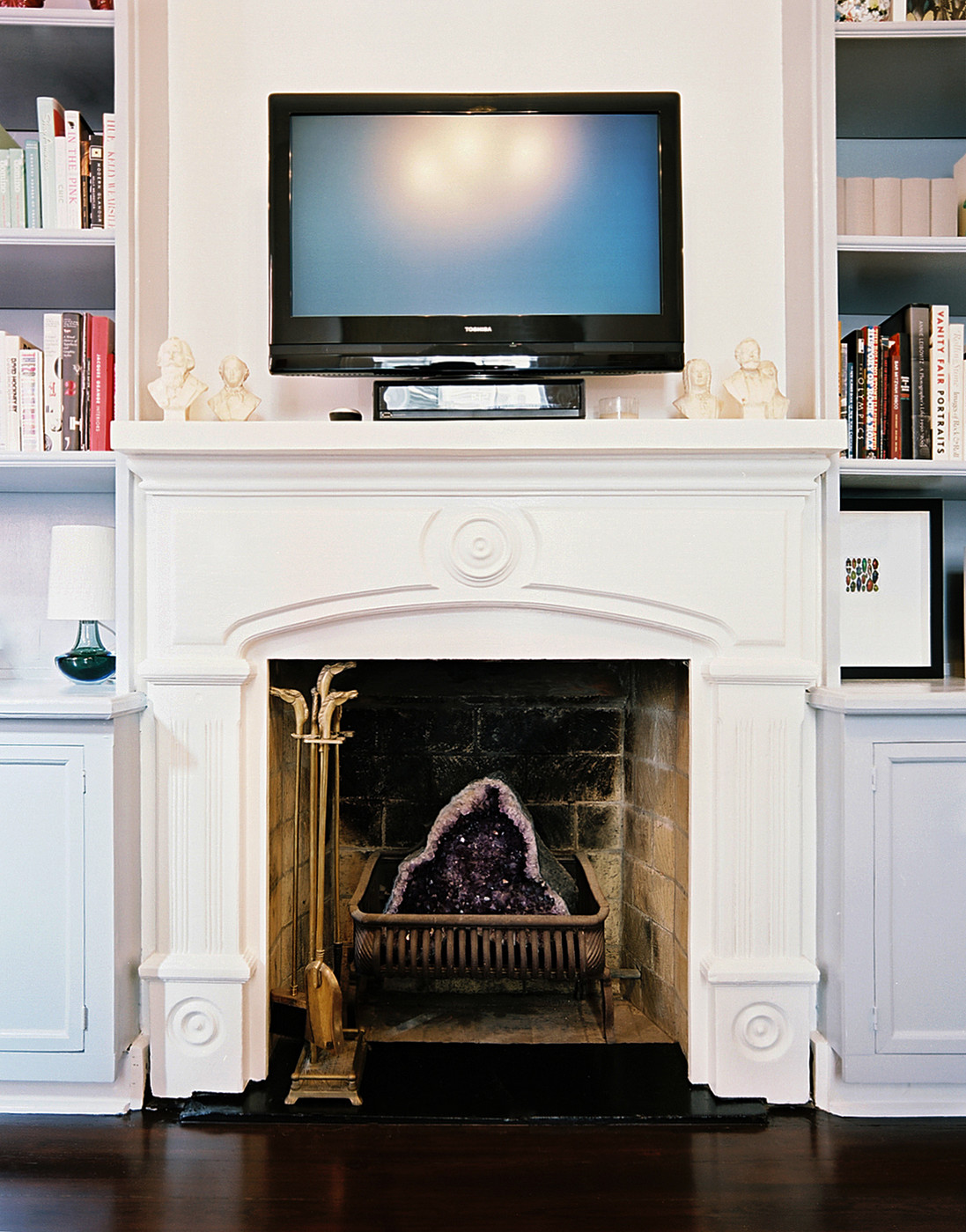 Fireplace Mantel Decor With Tv Tv Above Fireplace Photos Design Ideas Remodel And