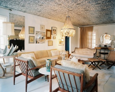 What a Feeling: Wallpaper on the Ceiling - Design Inspiration - Lonny