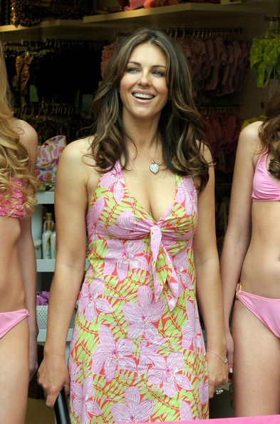Elizabeth Hurley - Launch of Barcelona Swimwear Store