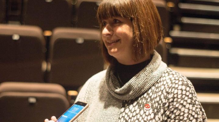 La ministre déléguée aux Affaires francophones de l'Ontario, Marie-France Lalonde.  Crédit photo: Patrick Imbeau