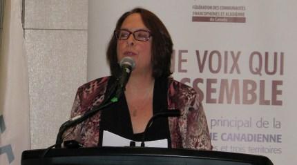 La présidente de la FCFA, Sylviane Lanthier. Archives #ONfr
