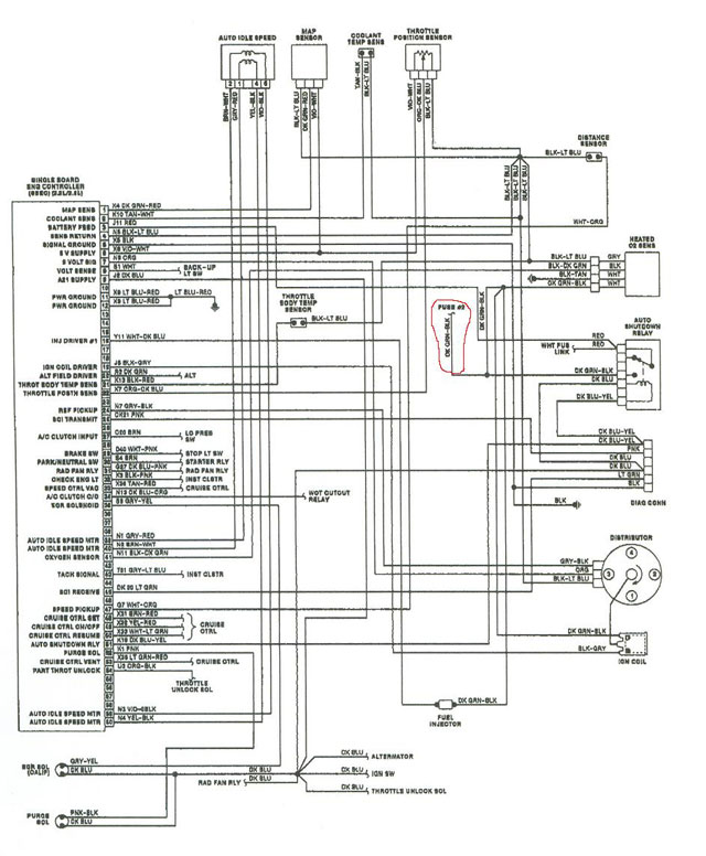 93 dodge dakota fuse diagram