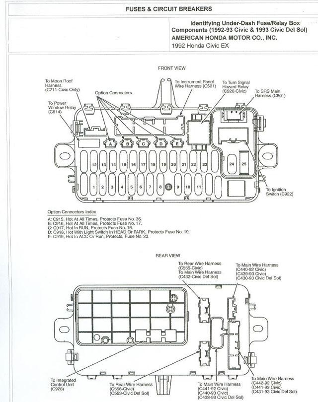 92 honda civic fuse diagram