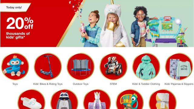 Target 20 Off Thousands Of Kids39 Gifts Today Wralcom