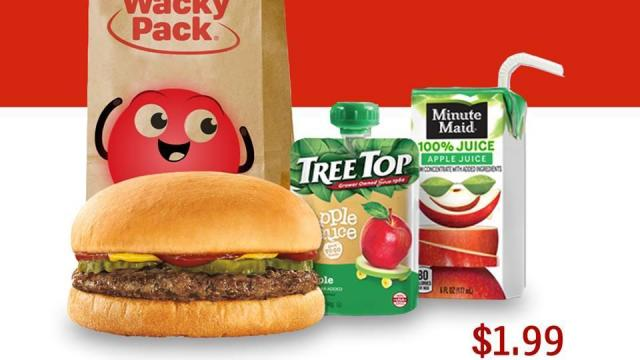 Sonic Drive-In Wacky Pack kids meal for only $199 Monday  WRAL