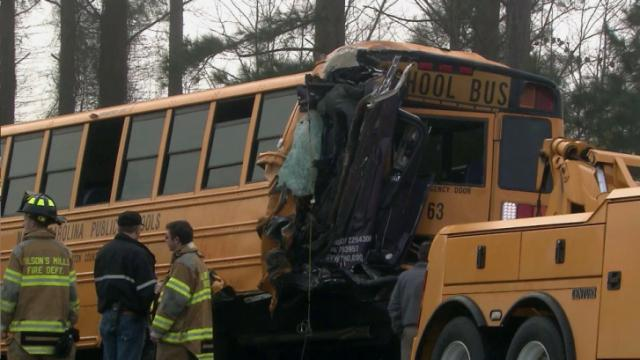 13 injured after school bus wreck in Johnston County  WRAL