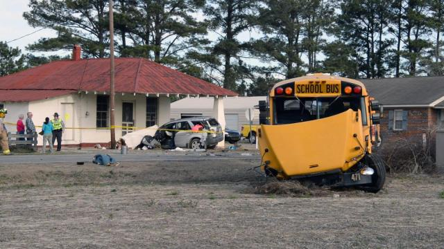 Johnston County school bus involved in wreck; several injuries
