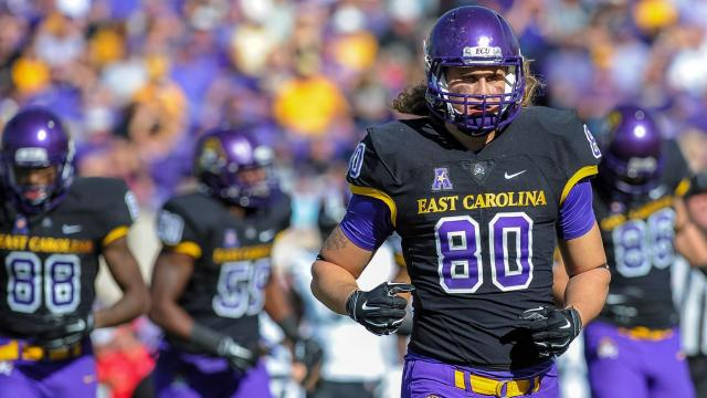 Panthers sign former East Carolina TE Bryce Williams