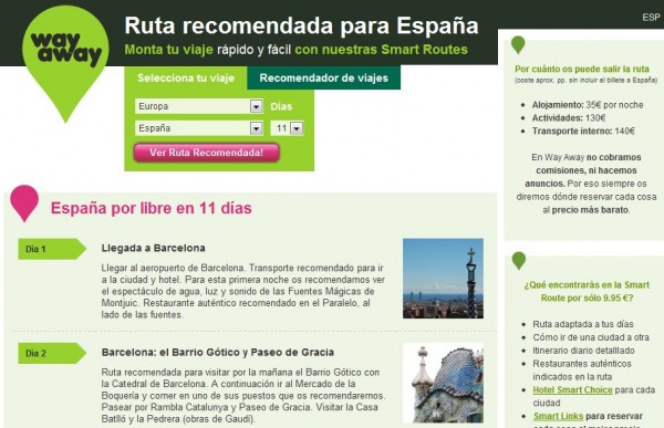 way-away \u2013 Nueva opción para planear viajes desde la web