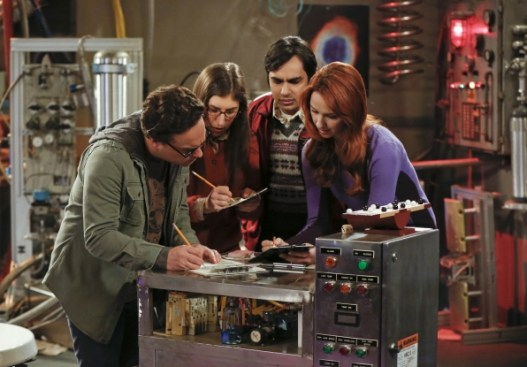 Stars of the Big Bang Theory in an escape room
