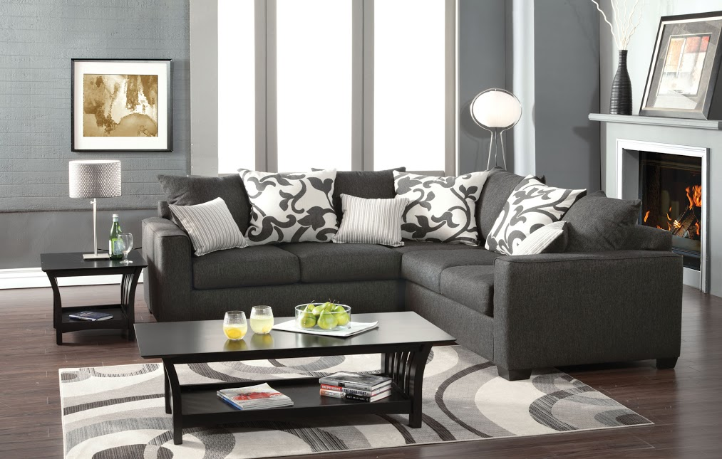 Reclining Sofa Los Angeles Ca Furniture Of America Sm 3015 Charcoal Grey Sectional Sofa