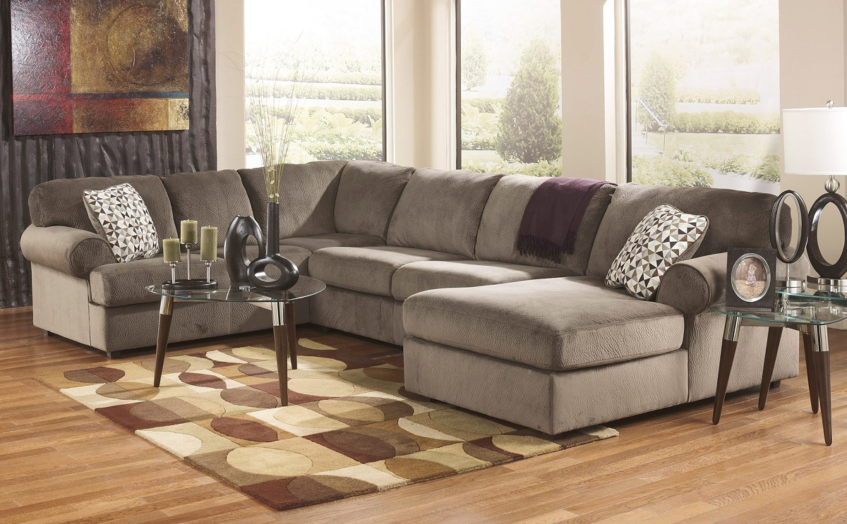 Sofas And Recliners Ashley Furniture Jessa Place Dune 39802 Sectional Sofa