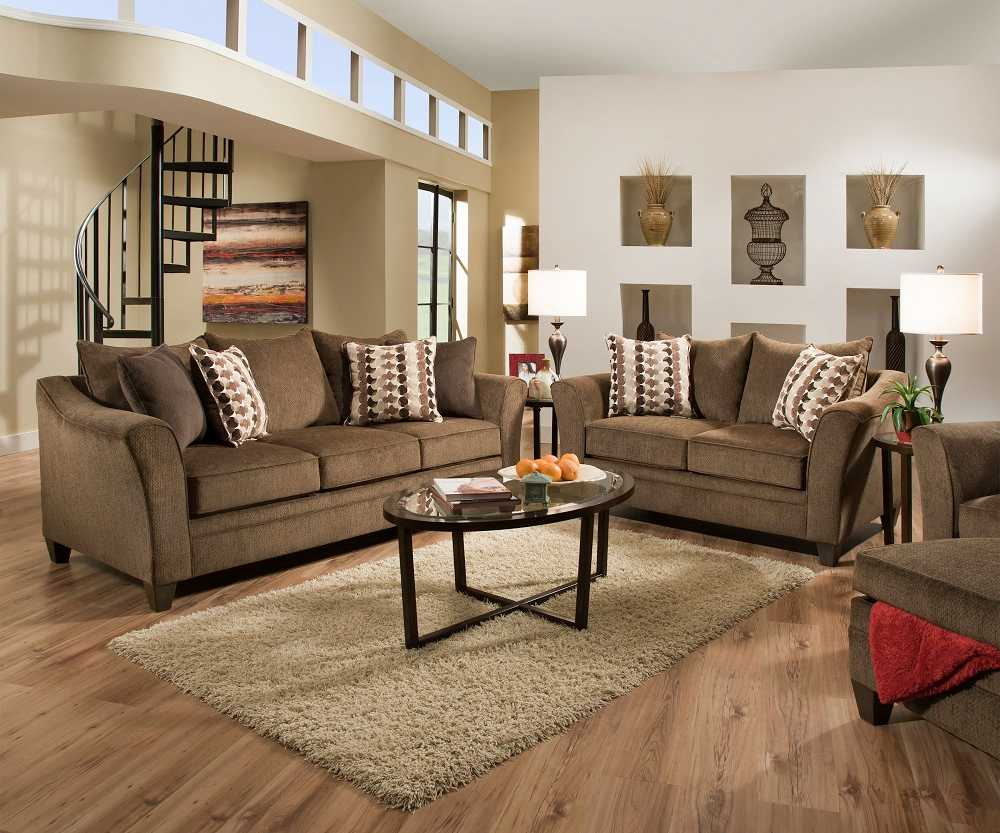 Brown Sofa And Loveseat Sets Albany 6485 Brown Truffle Sofa Loveseat Set