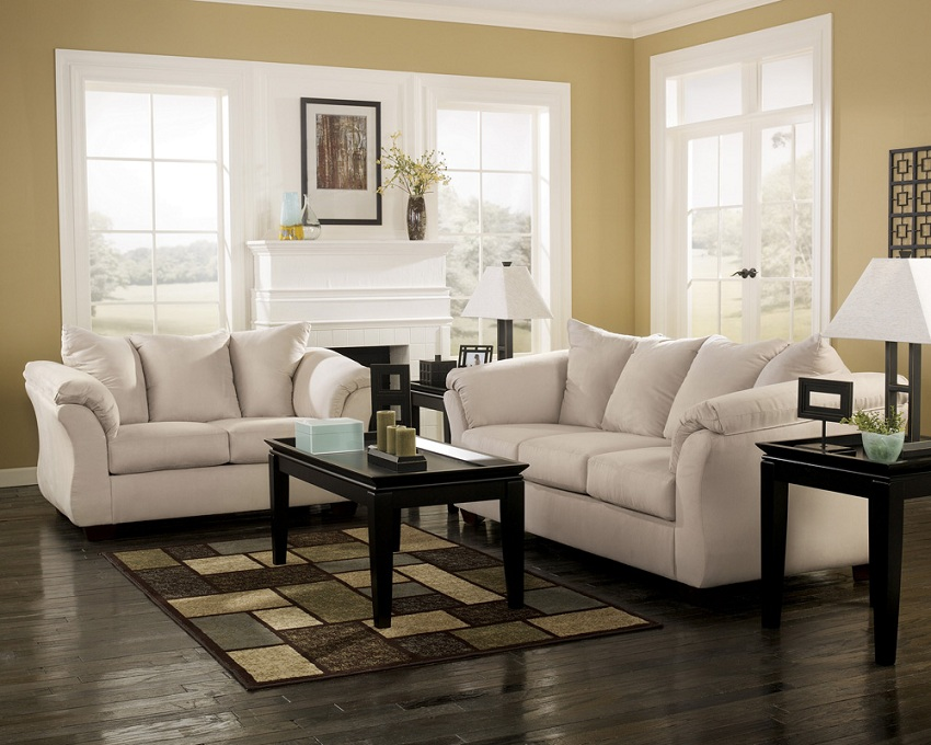 Reclining Sofa Los Angeles Ca Ashley Furniture, Living Spaces, Darcy-stone, Sofa & Loveseat