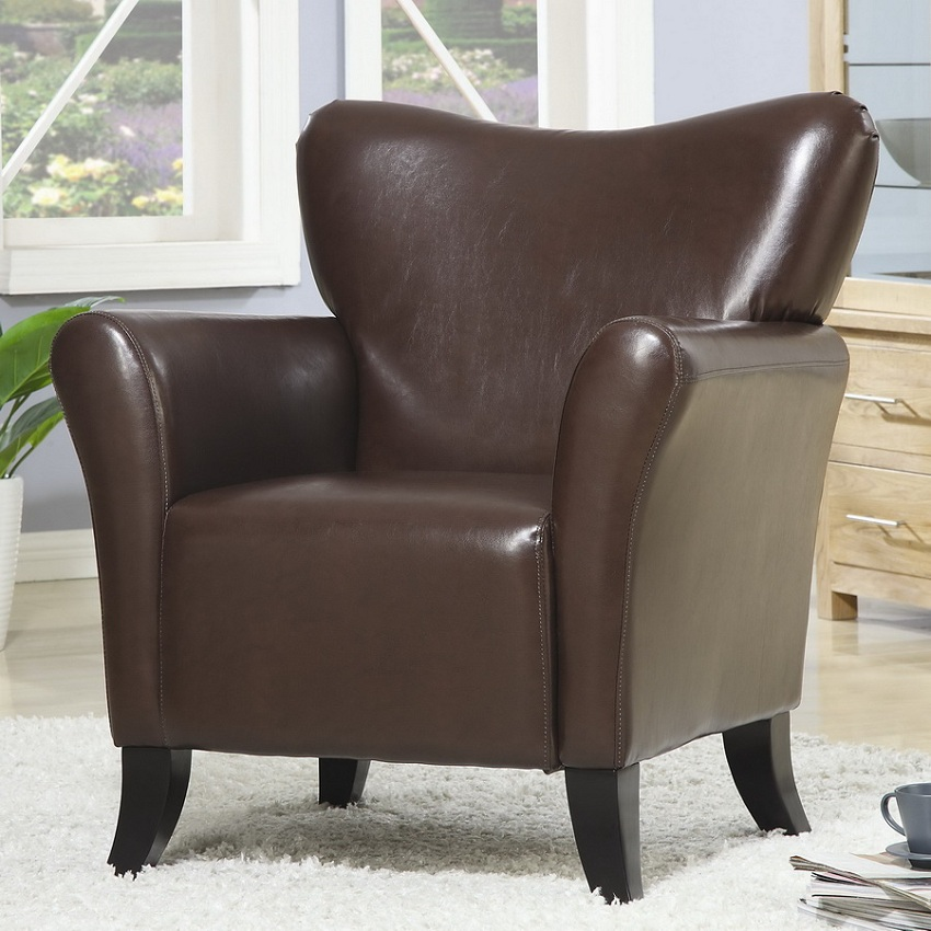 Reclining Sofa Los Angeles Ca Brown Accent Chair, Vinyl Chair, Living Spaces, Ashley