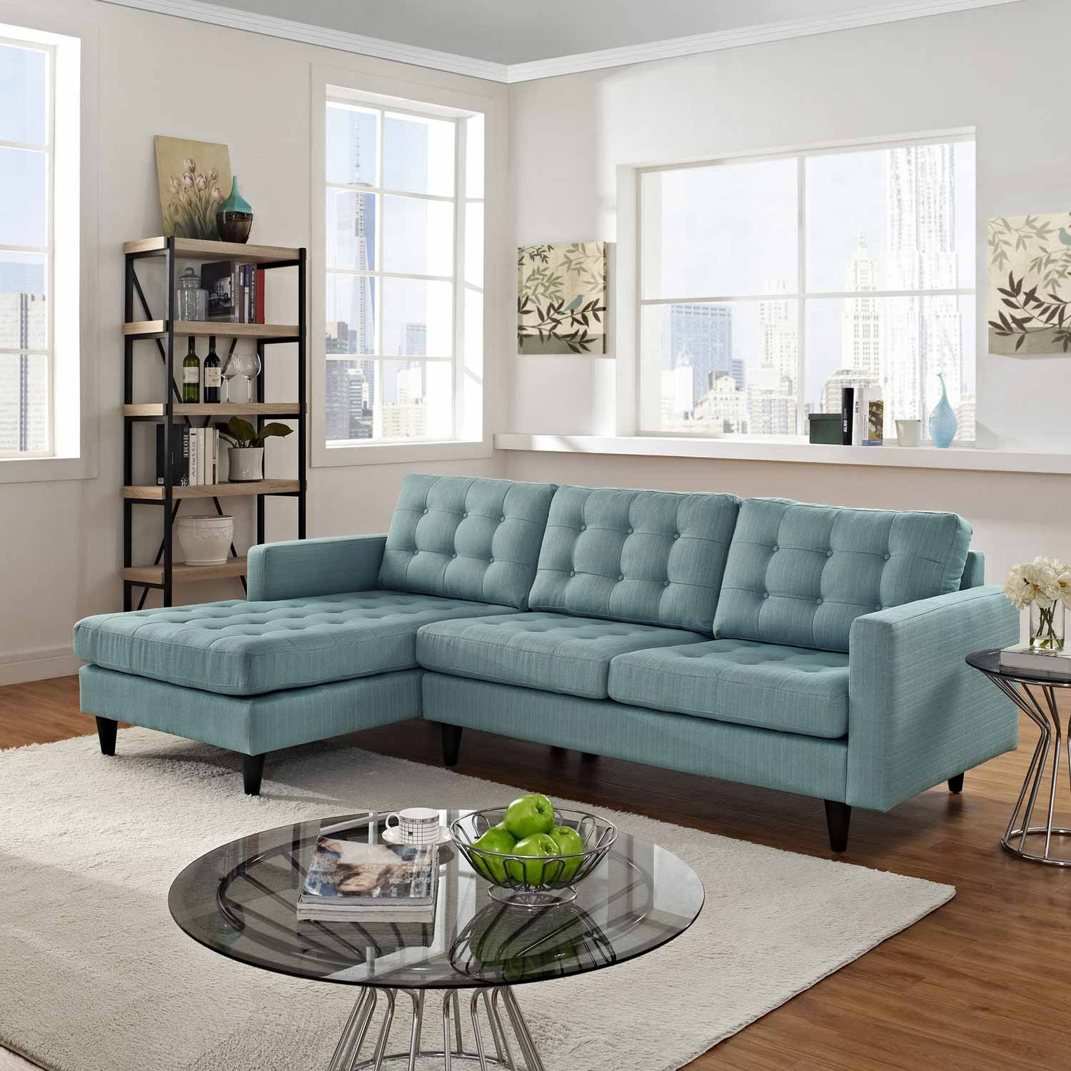 Blue Sectional Naomi Eei 1666lb Light Blue Sectional Sofa