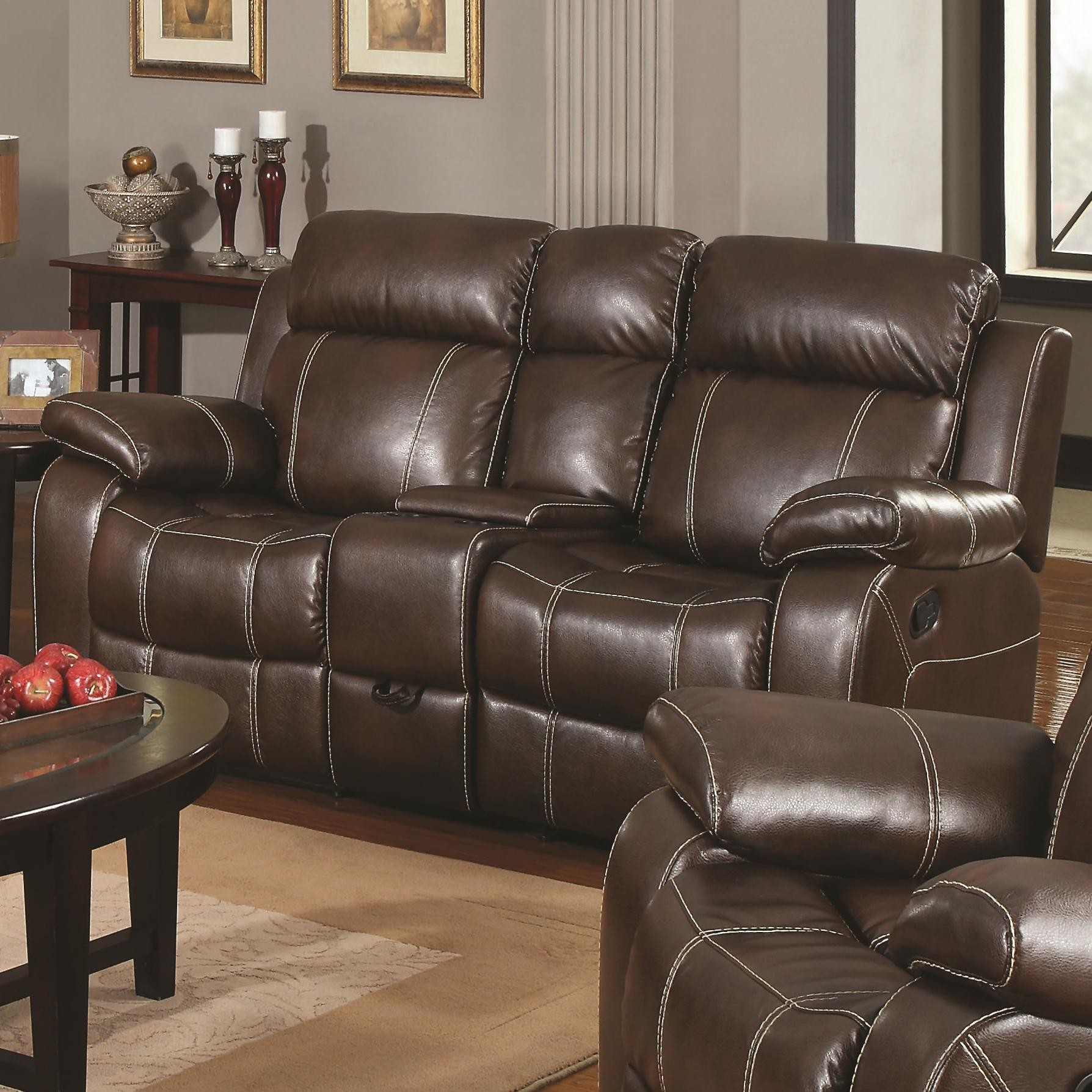 Brown Sofa And Loveseat Sets Myleene Collection 603021 Brown Reclining Sofa Loveseat Set