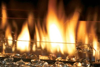 Convert fireplace to gas