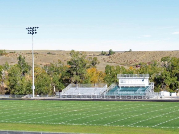Tongue River football field. Photo courtesy Deb Reed.