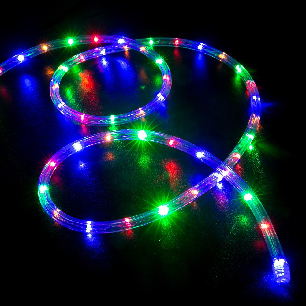 Lighting Rgb 50 Multi Color Rgb Led Rope Light Home Outdoor Christmas Lighting