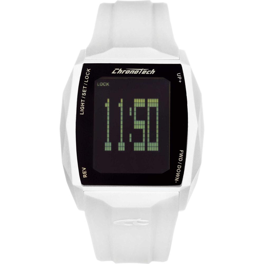 Digitale Uhren Uhr Chronotech Chronotouch Rw0024 Silikon Weisse Digital Touch