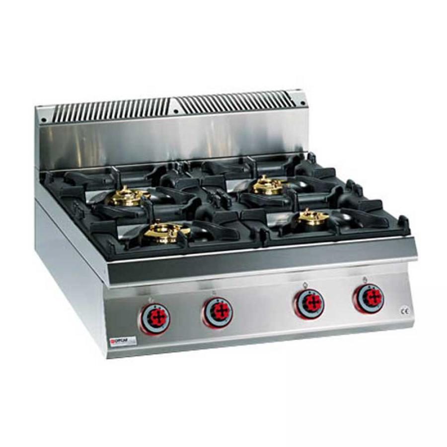 Cucina Gas   Cucina Gas 4 Fuochi Su Forno Elettrico Multifunzione