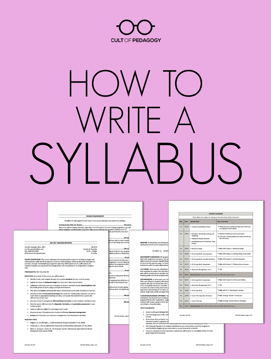 high school science syllabus template