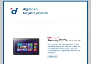 La Samsung Ativ Tab dès 639 francs.