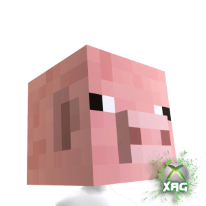 McDonald's & Dr. Pepper Minecraft Pig Head and Cow Head XBOX Avatar Helmets Text Promo FREEBIE (2/3)