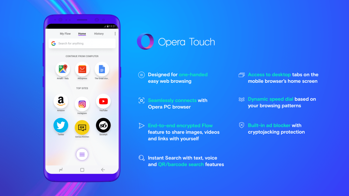 Browser Opera Opera Touch Is A New Mobile Browser Optimized For One Handed Use