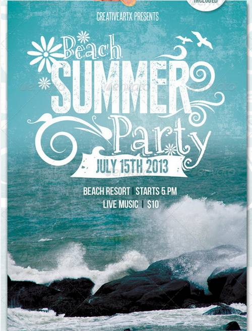 football tournament posters - Google Search Football Pinterest - beach party flyer template