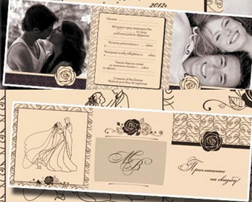 Download 8 Free Wedding Invitations Template in PSD - XDesigns - postcard wedding invitations template free