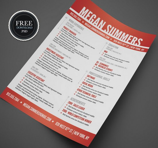 creative cv templates free download - Selol-ink