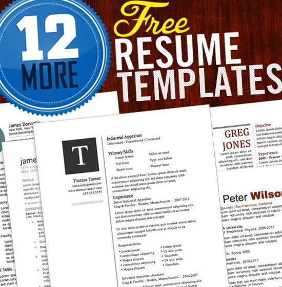 Download 35 Free Creative Resume / CV Templates - XDesigns - job resume templates free