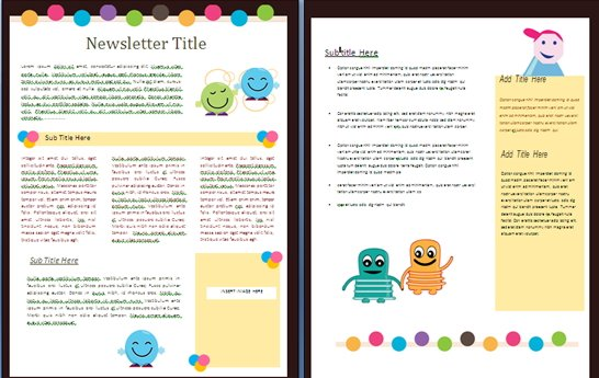 15 Free Microsoft Word Newsletter Templates for Teachers  School - Ms Word Cover Page Templates Free Download