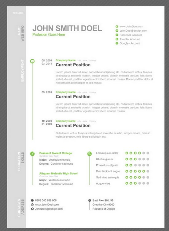 beautiful cv template word - Onwebioinnovate