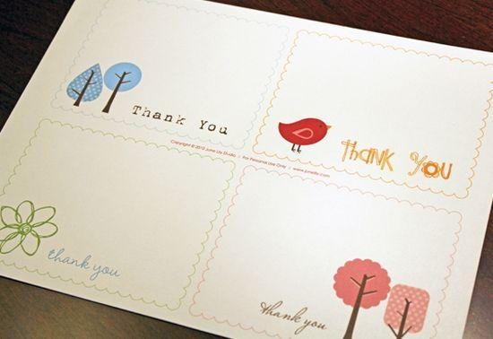 25 Beautiful Printable Thank You Card Templates - XDesigns - printable postcard template free