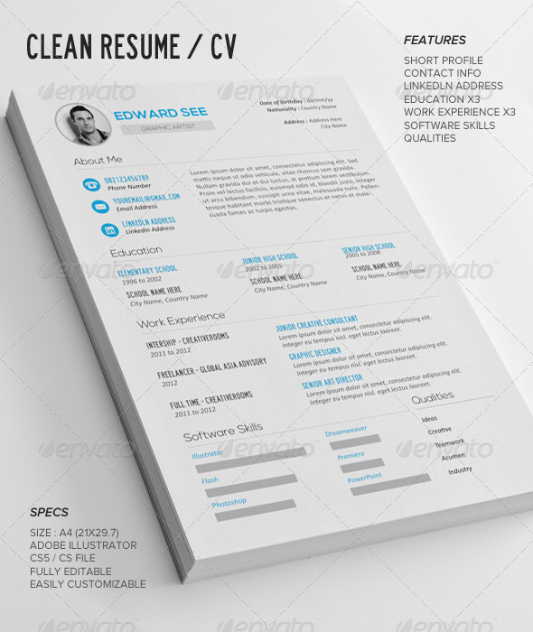 notepad resume template