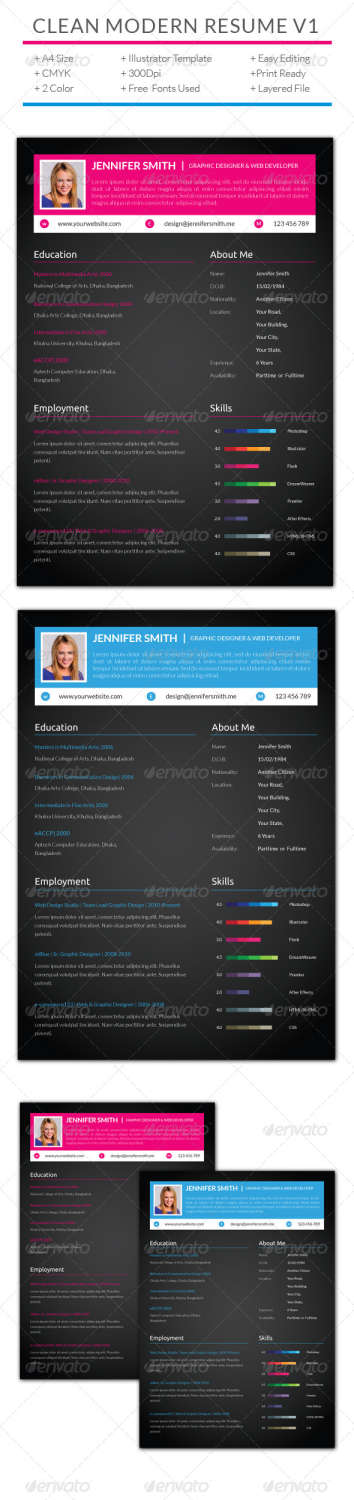 grayscale resume template word