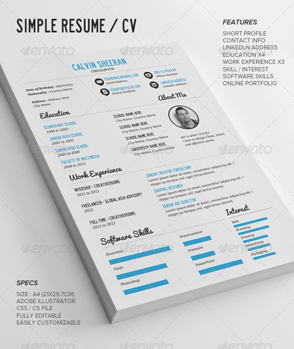 155+ Premium CV Resume Templates in INDD, EPS  PSD - XDesigns