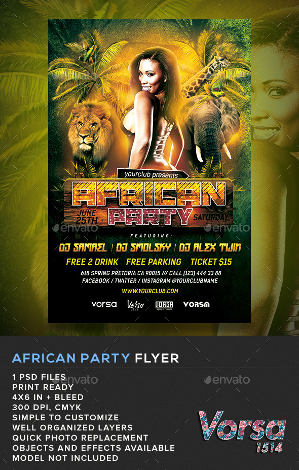 46 party flyer templates