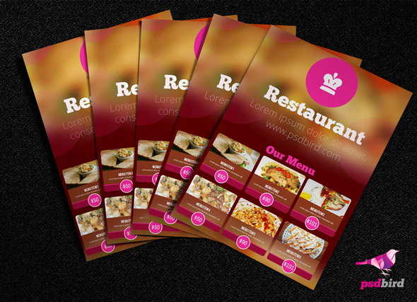 50 Free Food  Restaurant Menu Templates - XDesigns