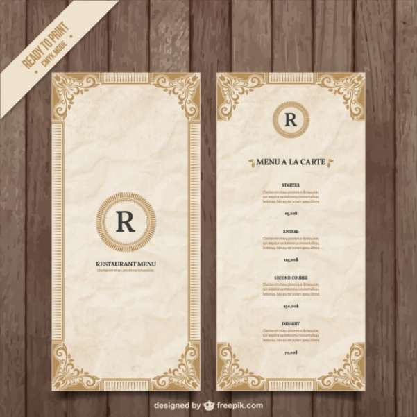 50 Free Food  Restaurant Menu Templates - XDesigns
