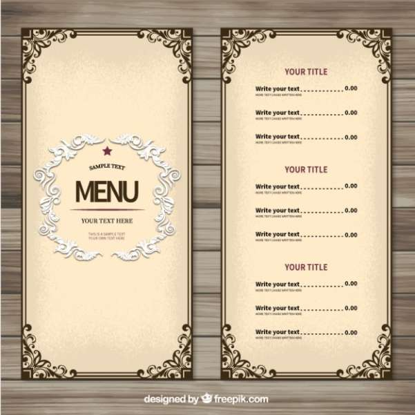 50 Free Food  Restaurant Menu Templates - XDesigns - food menu template