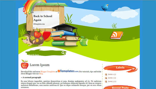 28 Blogger Templates Education FREE - XDesigns