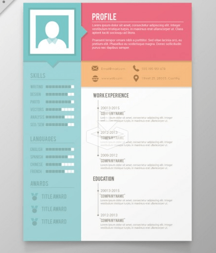 cool cv template free download